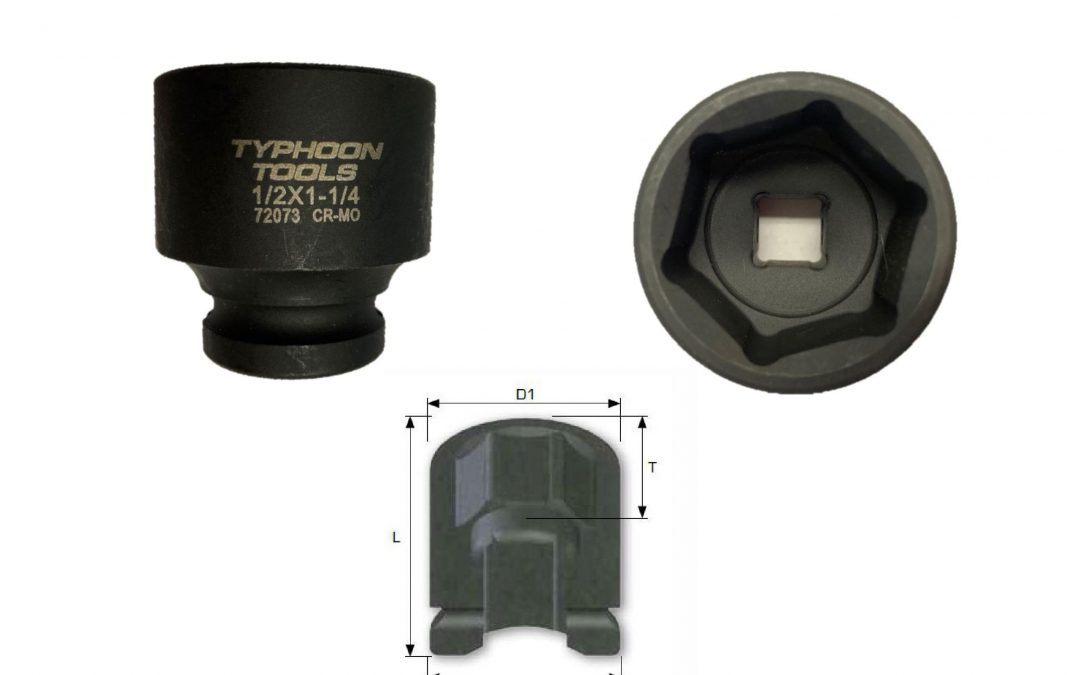 "1/2"" DRIVE Standard Length  Impact Sockets, 6-point, METRIC"