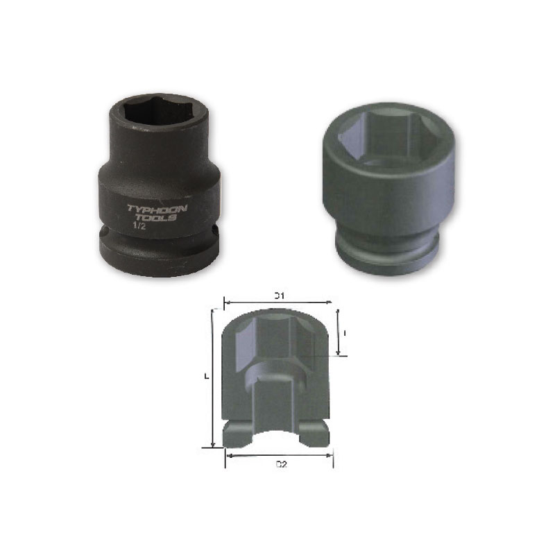 "1/2"" Drive Standard Impact Sockets, 6-point, Imperial"
