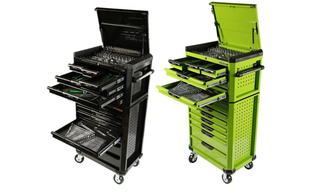 70973B & 70973G: 13 Drawer, 398pce AF & Metric Toolkit – Black or Green