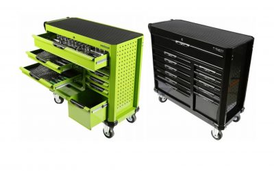 70980B & 70980G: 12 Drawer Super Wide Wagon, 414pce AF & Metric Toolkit – Black or Green