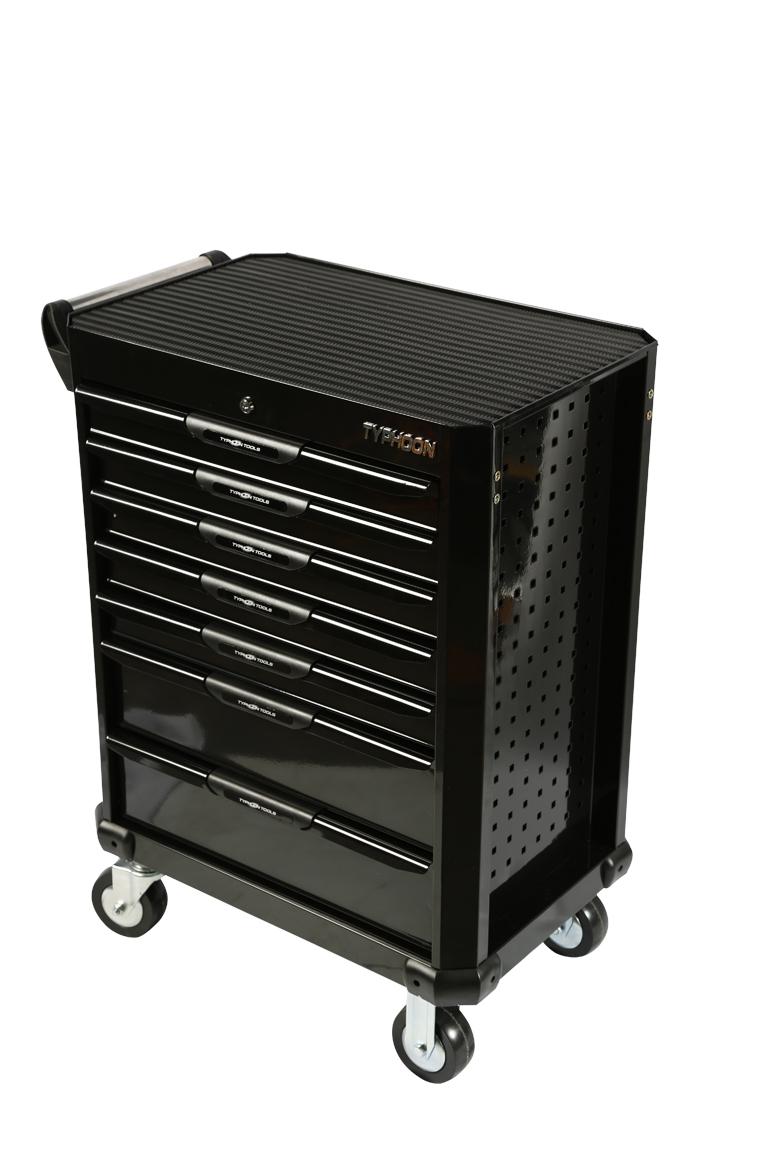 70833 7 Drawer Roller Cabinet Black – Series 2