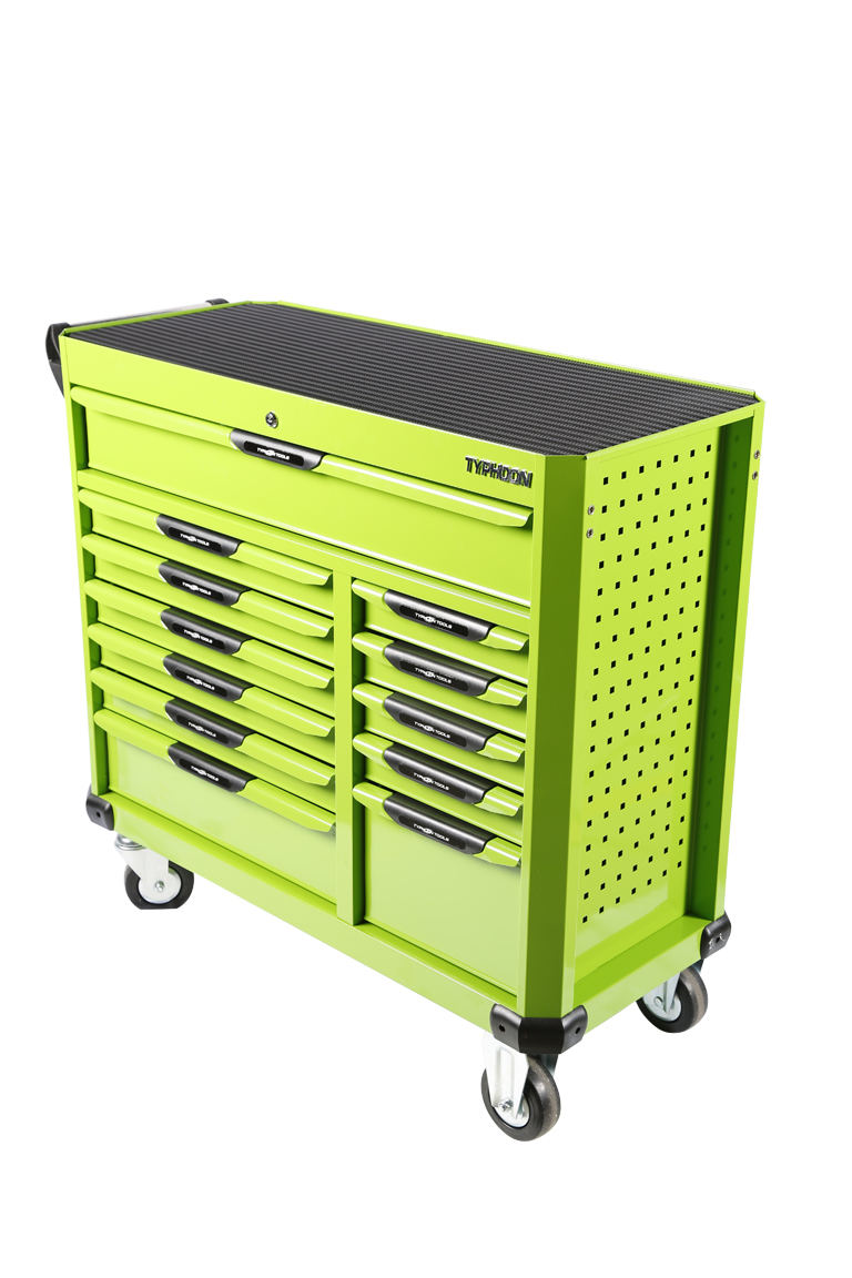 70836 12 Drawer Rollaway Wagon Green – Series 2