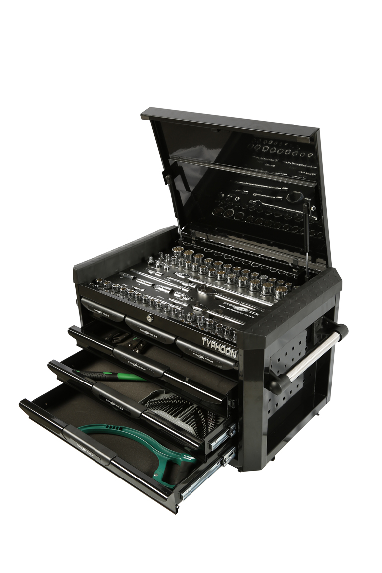 70970B 6 Drawer, 188pce AF & Metric Toolkit – Black