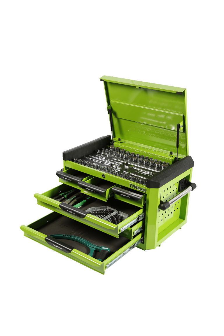 70970G 6 Drawer, 188pce AF & Metric Toolkit – Green