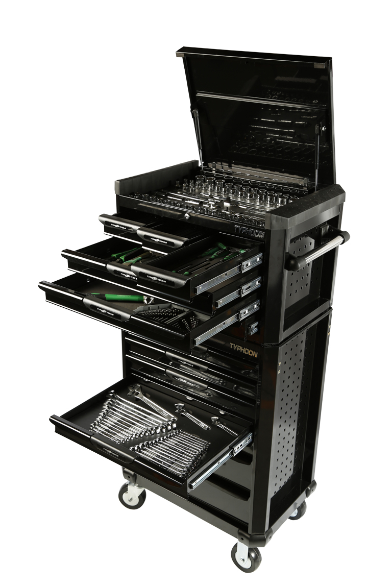 70973B 13 Drawer, 398pce AF & Metric Toolkit – Black