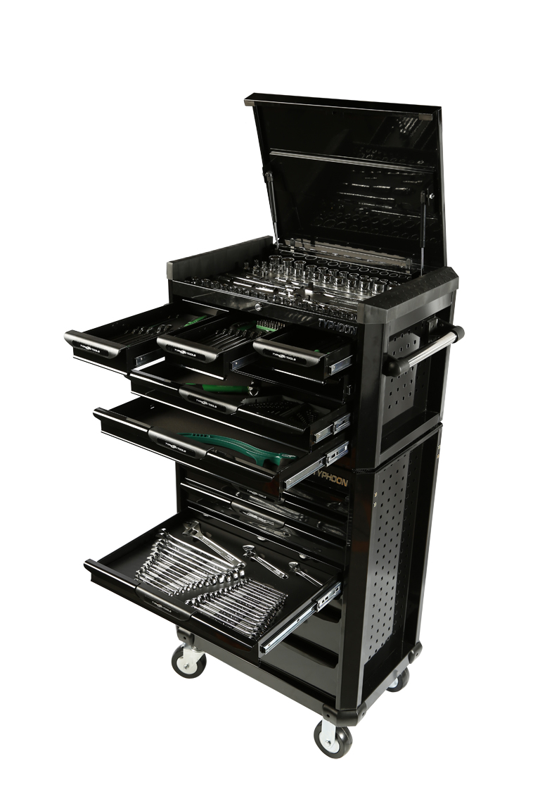 70974B 13 Drawer, 262pce AF & Metric Toolkit – Black