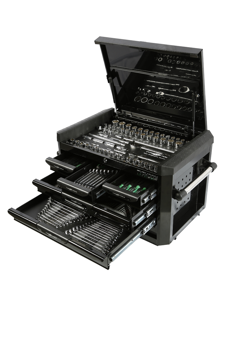 70975B 6 Drawer, 268pce AF & Metric Toolkit – Black