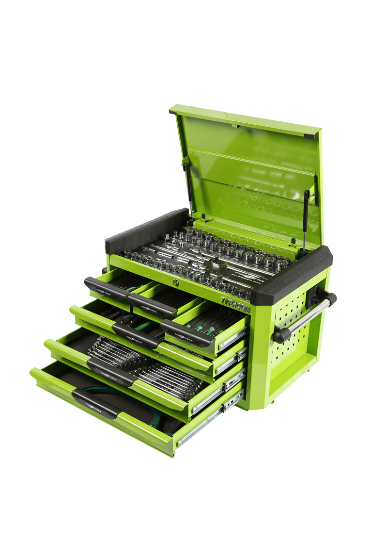 70975G 6 Drawer, 268pce AF & Metric Toolkit – Green