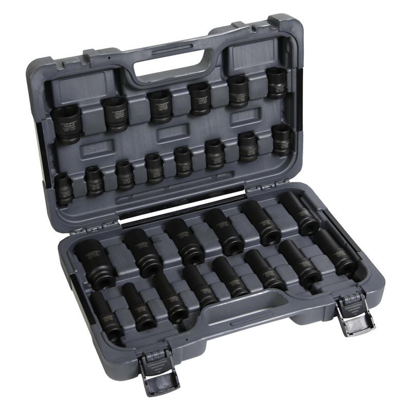 72507 – 1/2″ Drive 26 PCE Imperial Standard & Deep Impact Socket Set