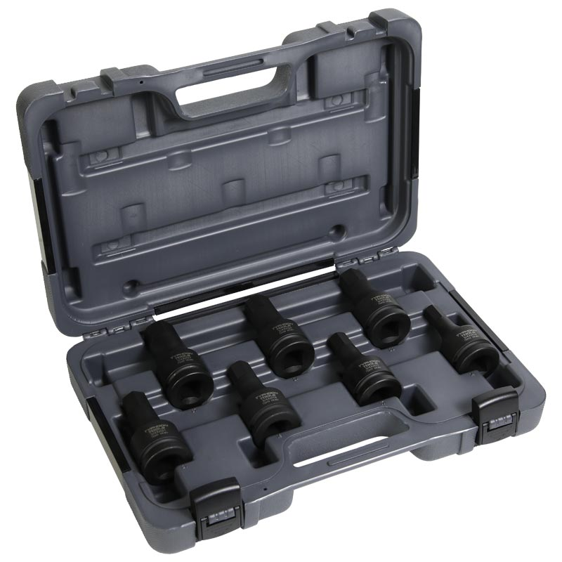 72509 – 3/4″ Drive 7 PCE In-Hex Metric Impact Socket Set