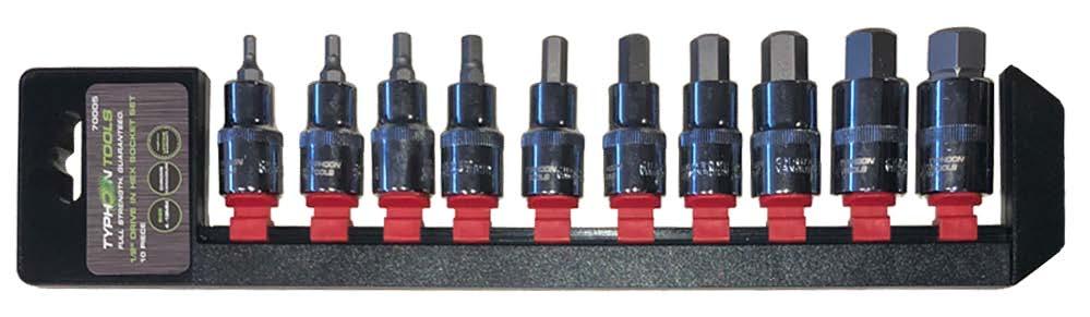 70005 – 10PC Metric 1/2″ Drive In-Hex Socket Set