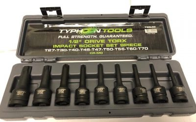 72540 – 1/2″ DR Torx Impact Socket Set Metric