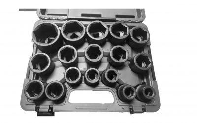 72541 – 17PC 3/4″ DR Impact Socket Set Metric 19-55mm